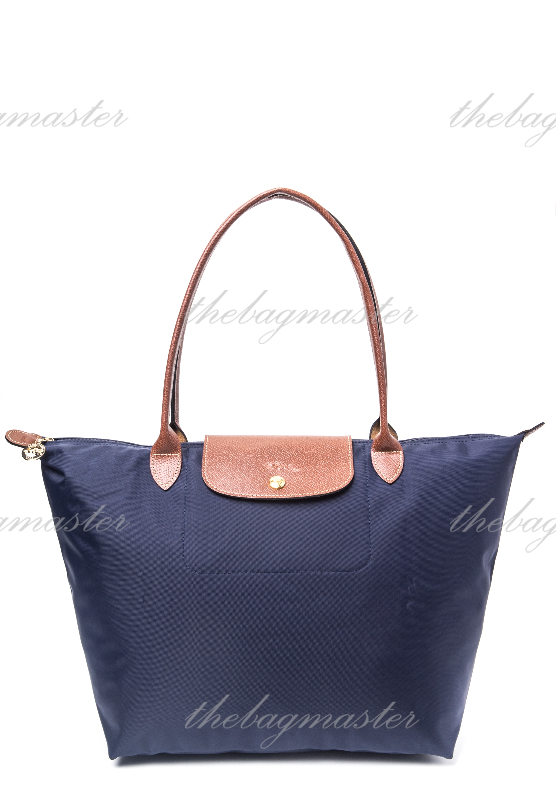 609538750dfc Longchamp Le Pliage Large Long Handle- Navy Blue — The Lifestyle Store