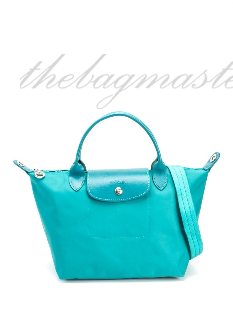 348b20ca202f Longchamp Le Pliage Neo Small Shorthandle - Turquoise — The ...