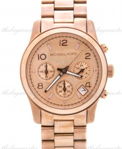 Michael Kors Runway Midsized Rose Gold Chronograph Watch MK5128