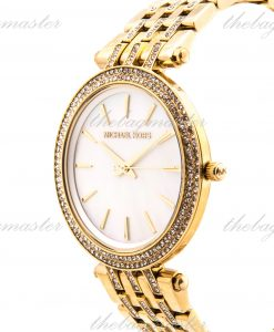 Michael Kors Ladies Darci Glitz Gold Tone Mother of Pearl Stainless Steel Watch  MK3219