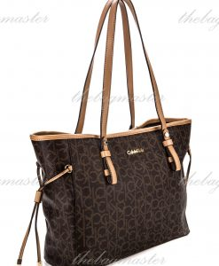 Calvin Klein Monogram Drawstring Tote bag Brown