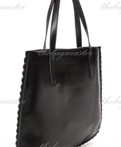 Charles & Keith Scallop Hem Tote Bag Black