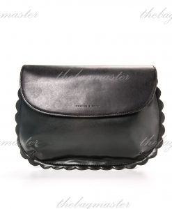 Charles & Keith Scallop Hem Clutch Bag Black