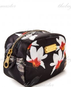 Marc Jacobs Nylon Cosmetic Pouch Floral Butterfly Black