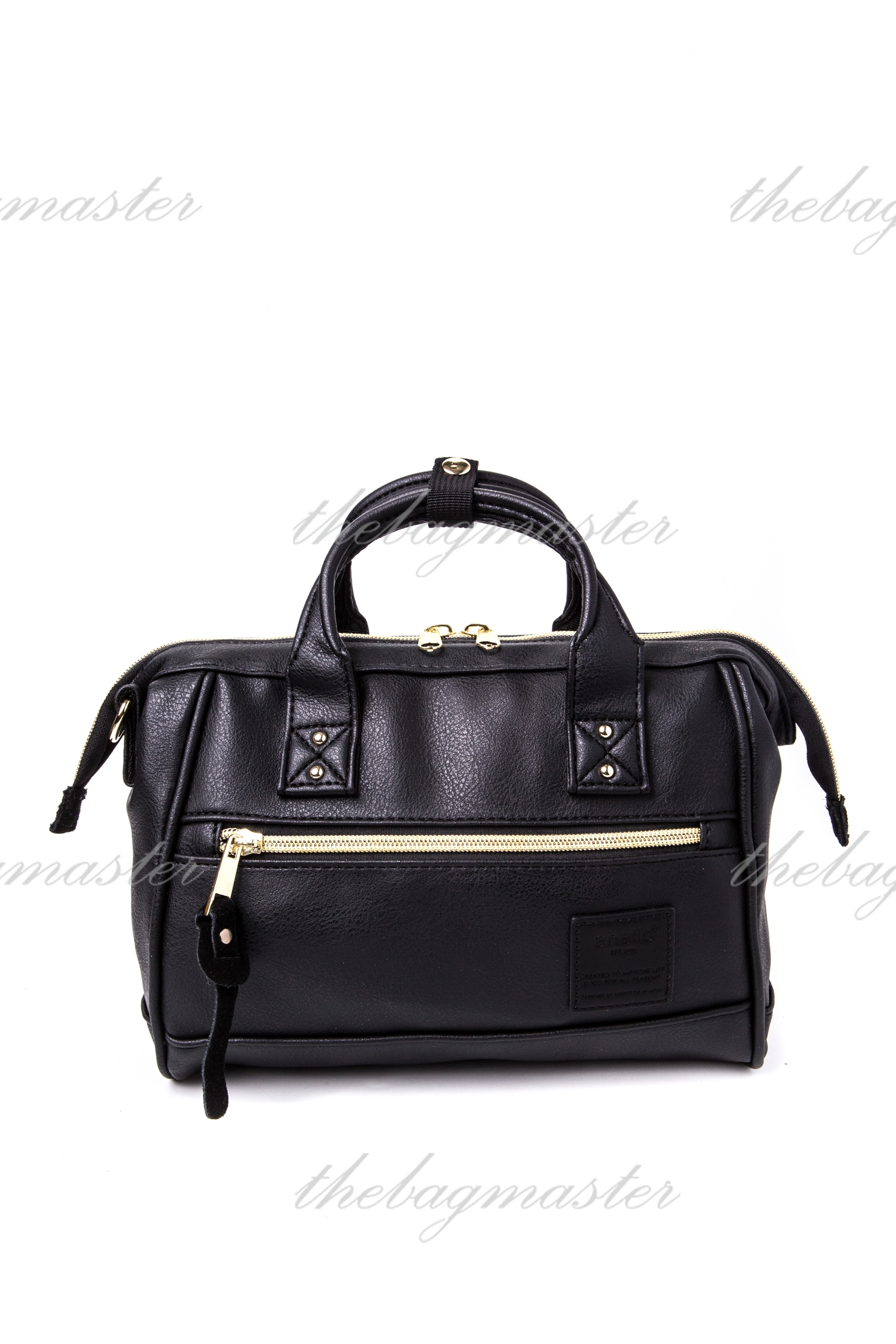 90f6fb3e0218 Anello PU Leather mini Boston 2way Shoulder bag - Black — The ...
