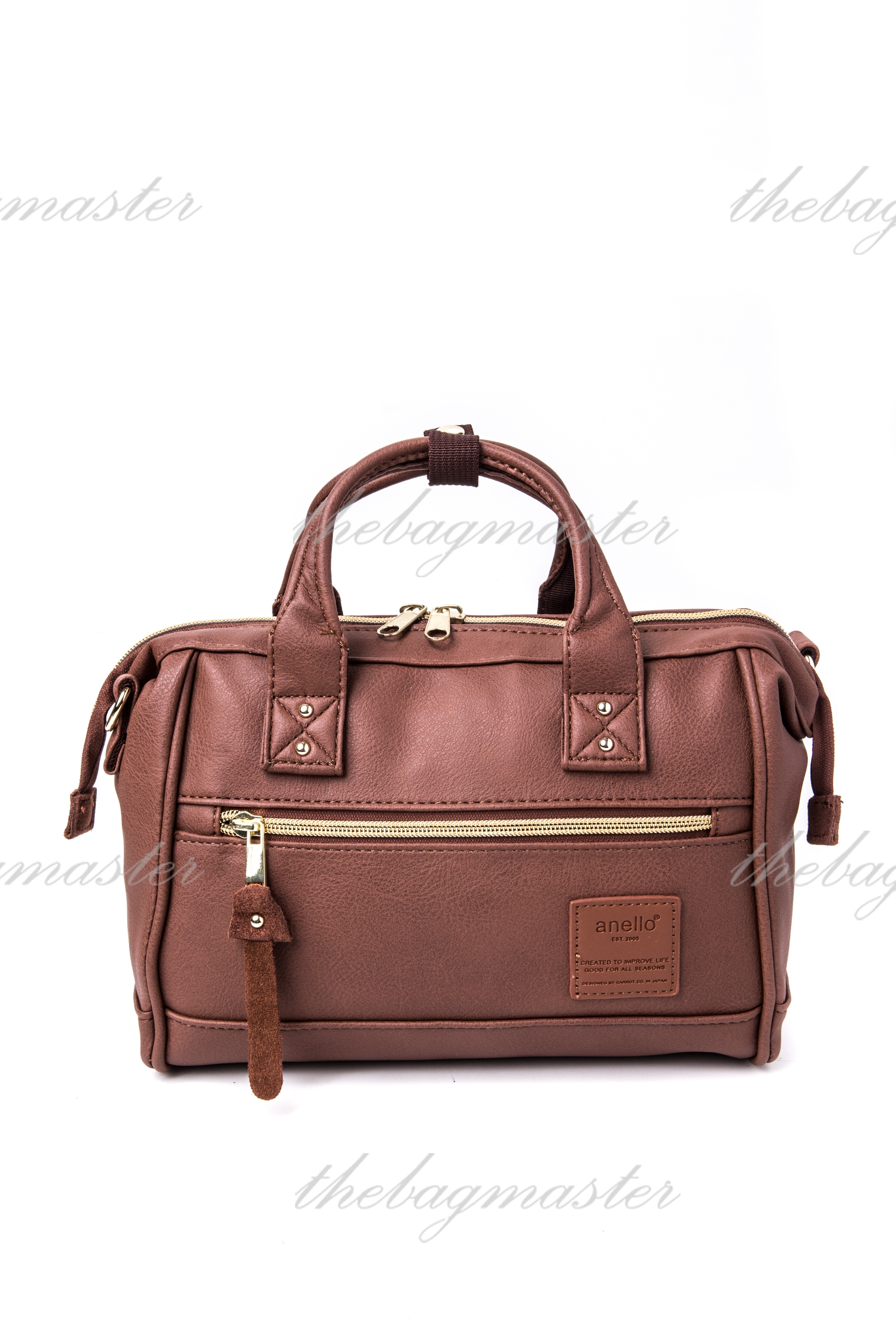684cdb688d61 Anello PU Leather mini Boston 2way Shoulder bag - Brown — The ...