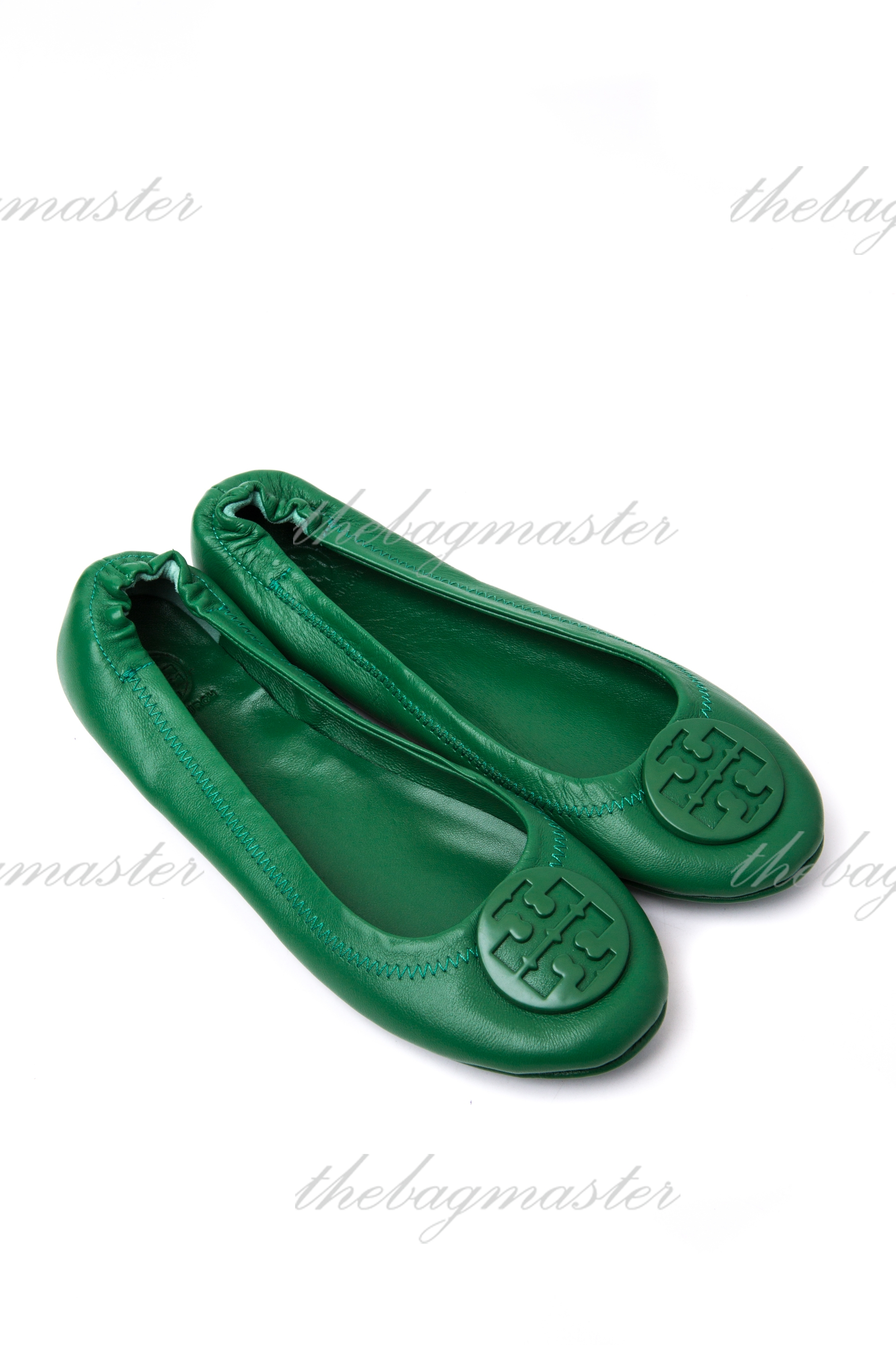 18ee3d092260 Tory Burch Minnie Travel Logo Ballerina Flat – Emerald green (Size 9 ...