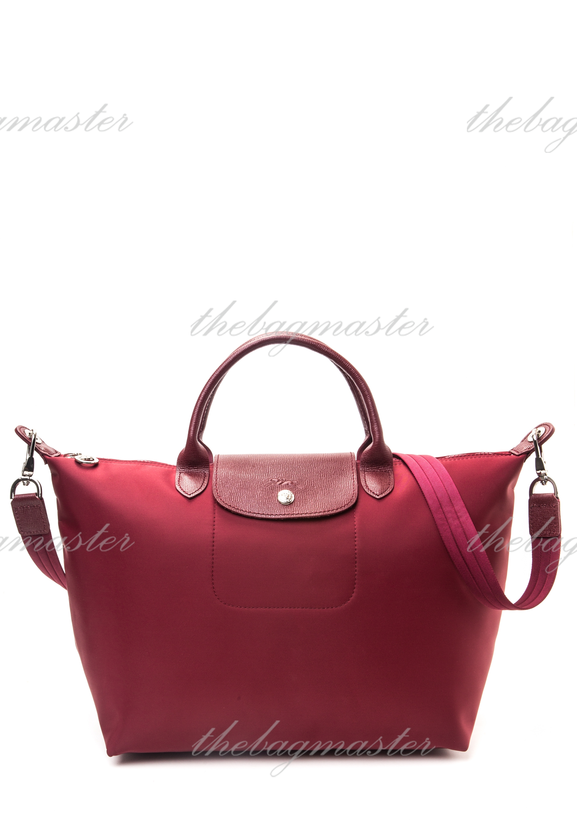 Longchamp Le Pliage Neo Medium Short handle - Opera Red — The ... 296085d549159