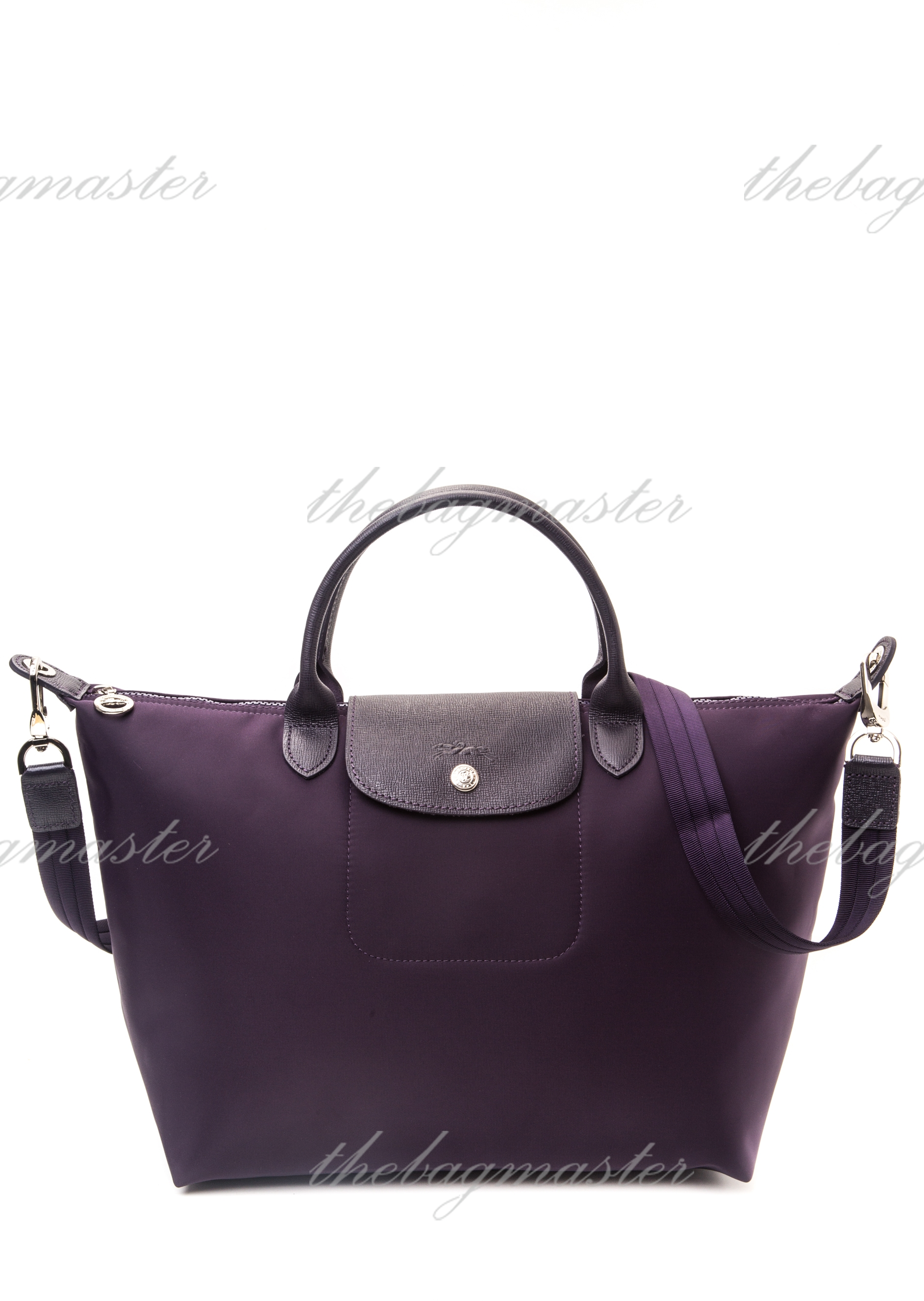new products 1c4ec b8493 Longchamp Le Pliage Neo Medium Short handle – Bilberry