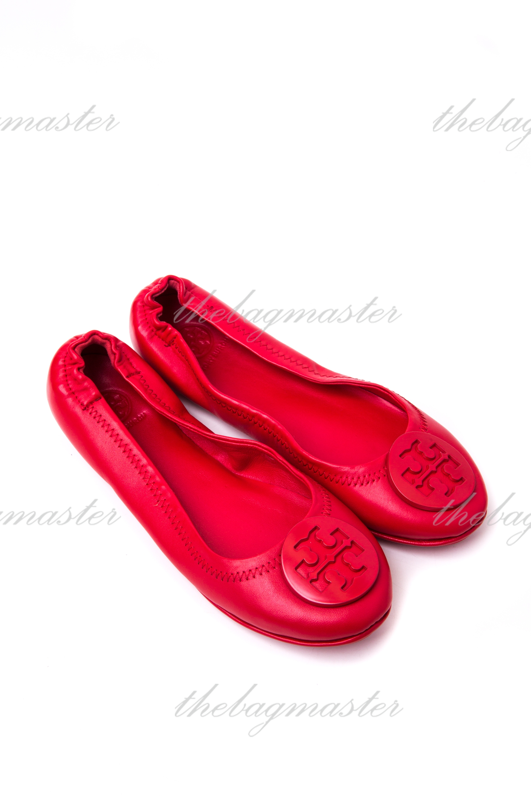 d94f365dcae0d2 Tory Burch Minnie Travel Logo Ballerina Flat – Red (Size 6) — The ...