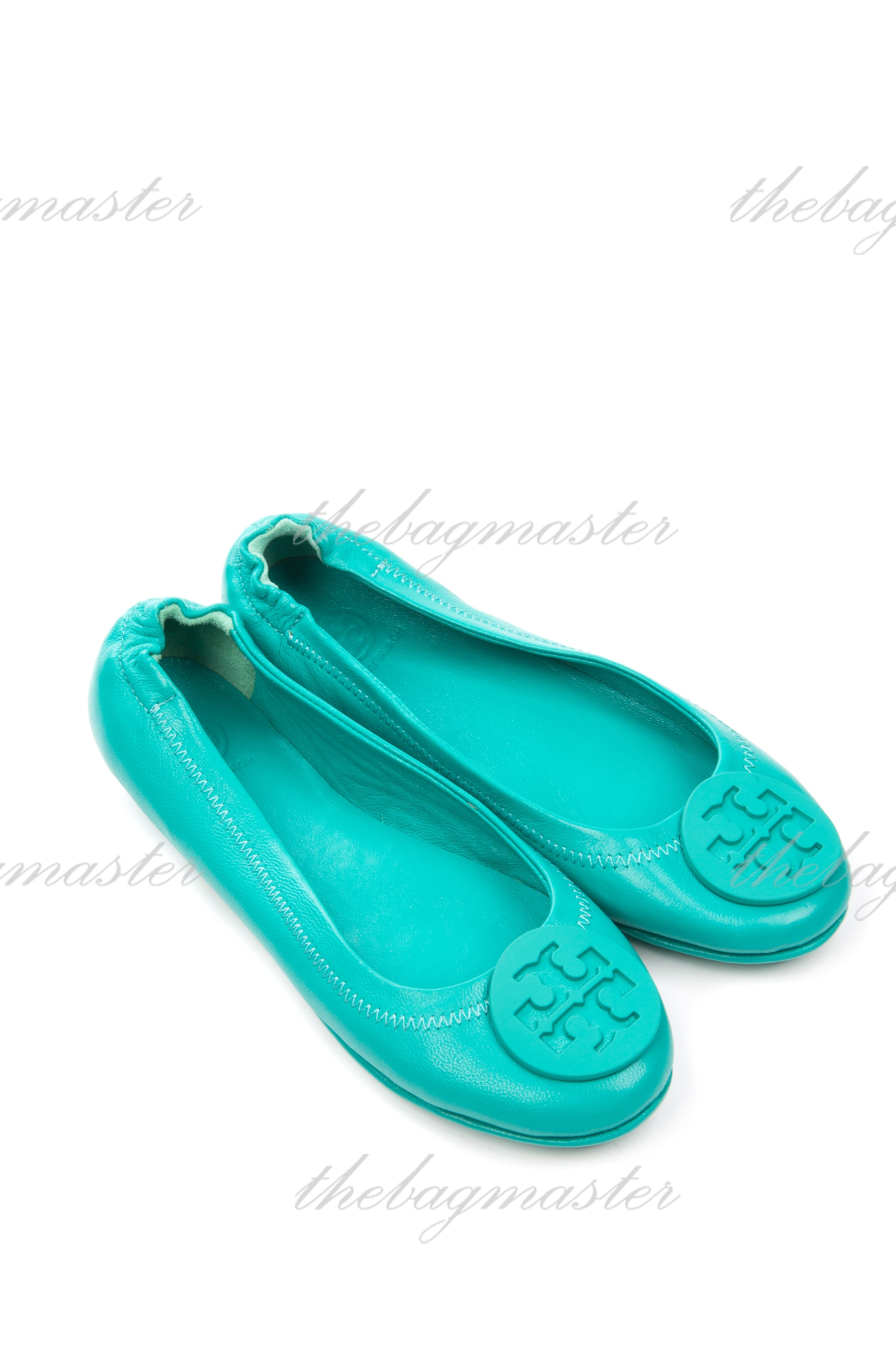 280334d59788 Tory Burch Minnie Travel Logo Ballerina Flat - Mint Green (Size 8.5 ...