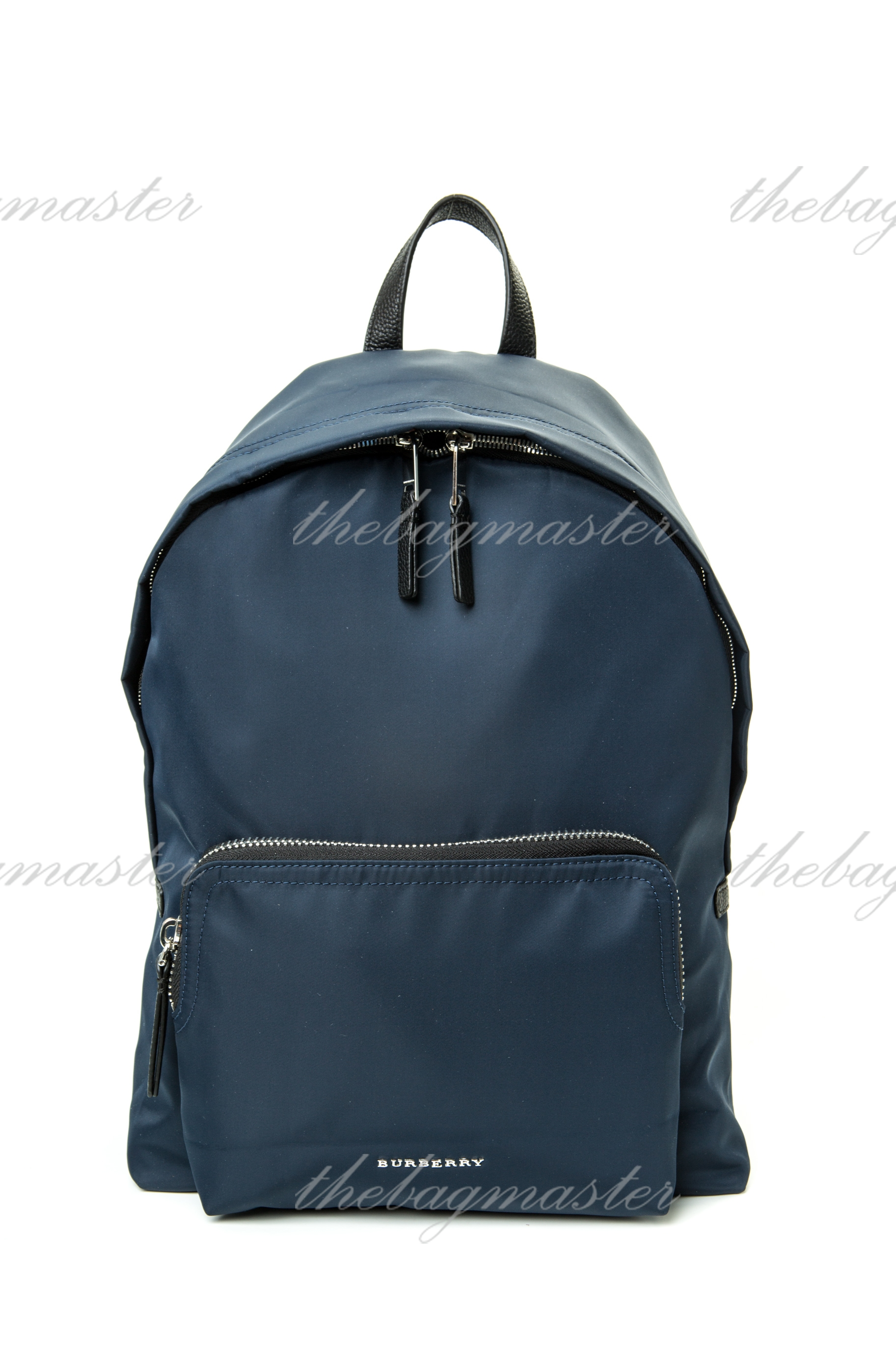 eb9aef9dc384b Burberry  Abbeydale  Check Nylon Backpack - Navy Blue — The ...