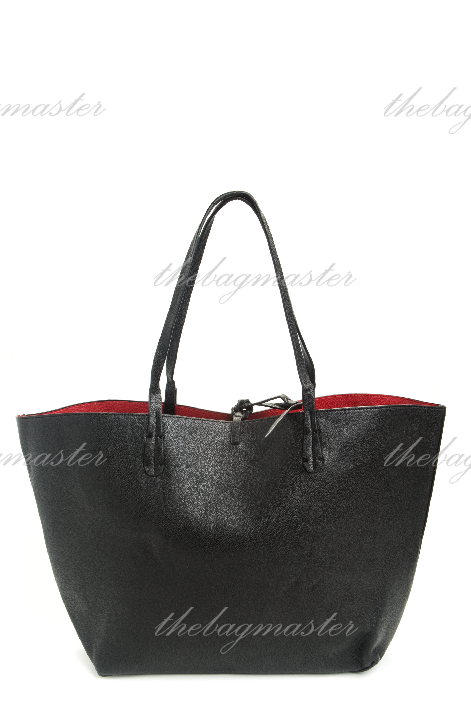 46c0c0860d Zara Reversible Contrast Shopper Bag - Black / Red — The Lifestyle Store