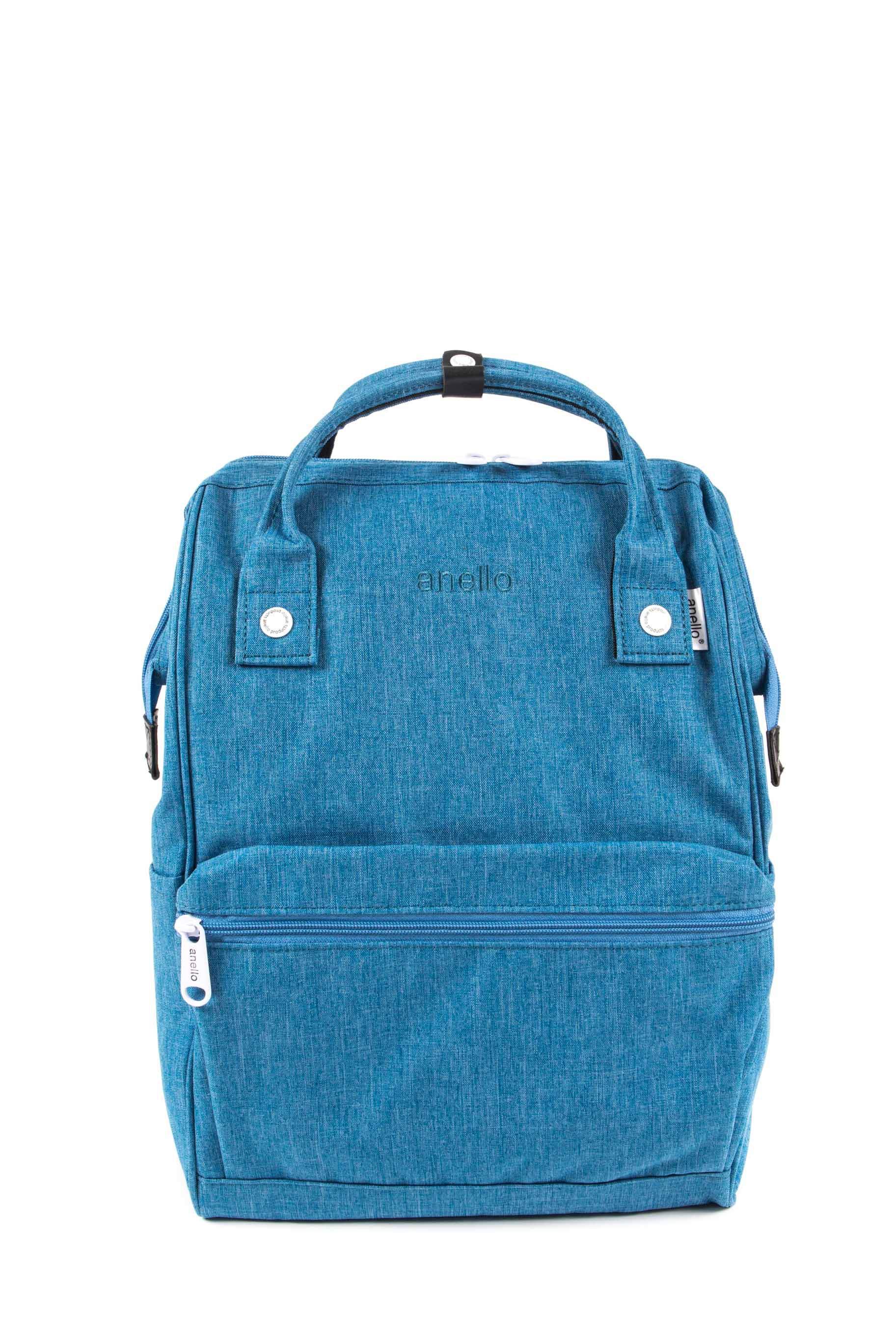 73e1a2892e96 Anello Mottled Polyester Canvas BackPack - Cerulean — The Lifestyle ...