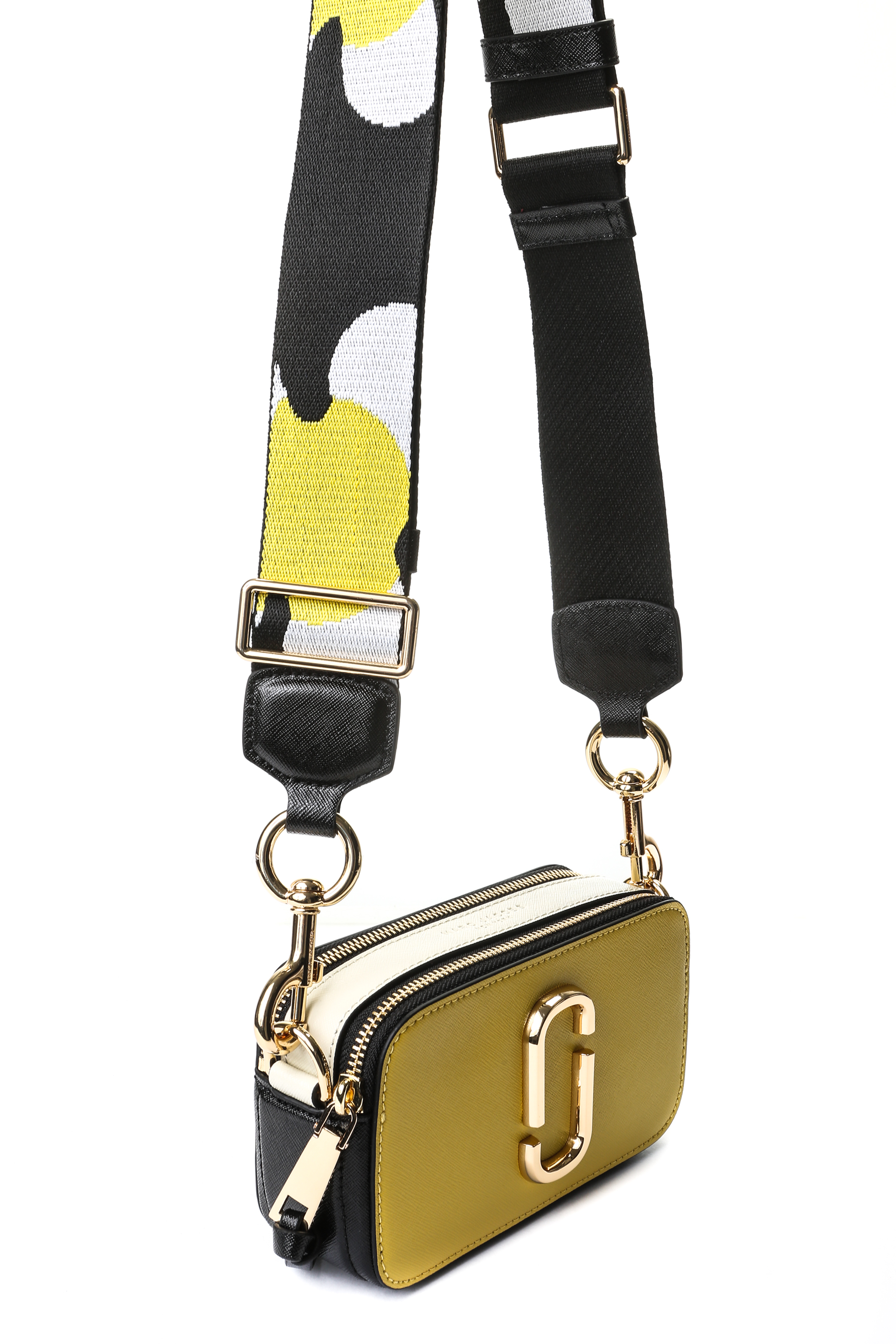 ceb16ebebfd2 Marc Jacobs Snapshot Camera Bag - Yellow / White / Black with Floral ...
