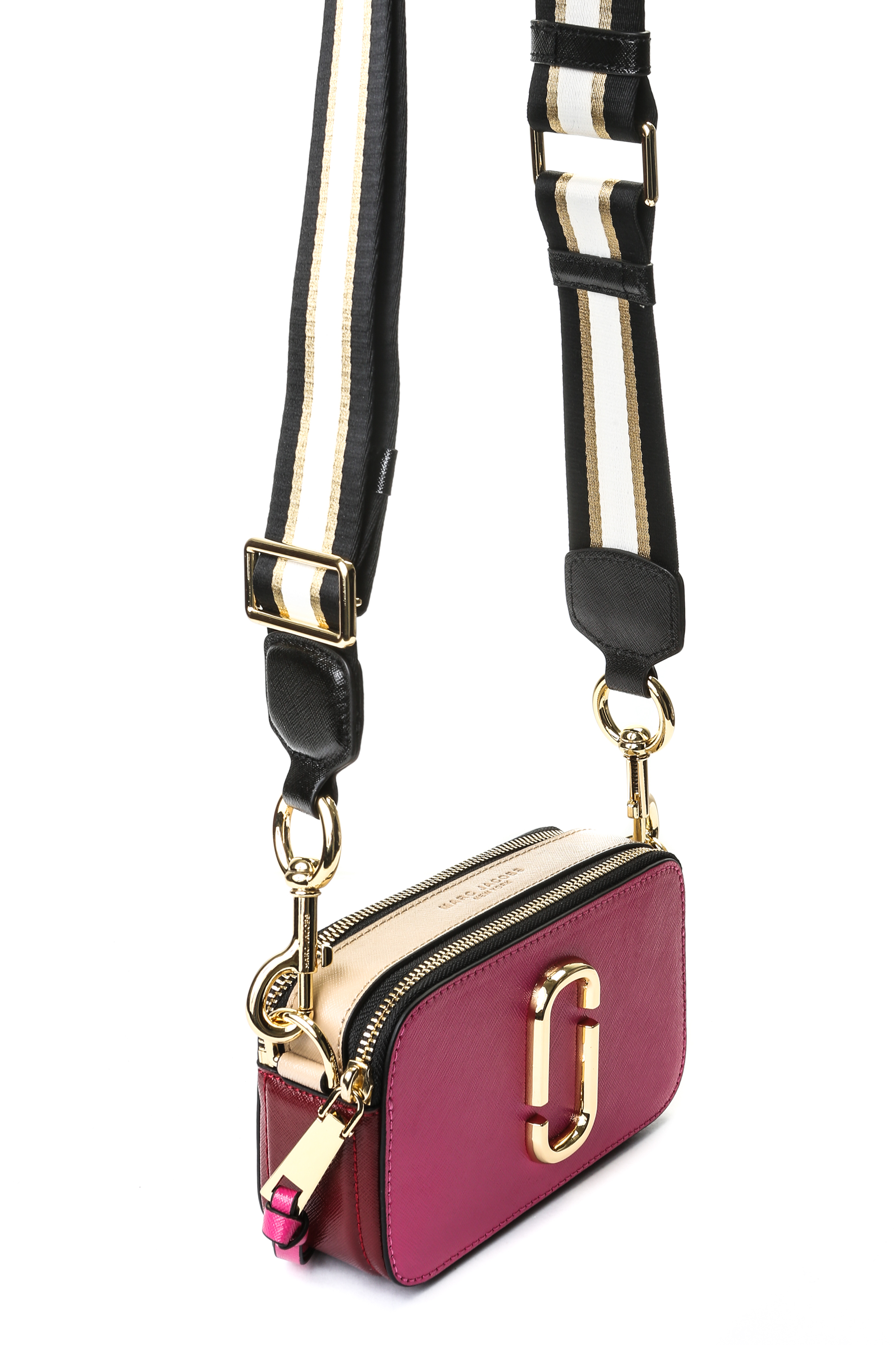 4bf91b74d50e Marc Jacobs Snapshot Camera Bag - Fuchsia/Beige/Purple with Stripe ...